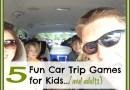 5 Fun Car Trip Games For Kids