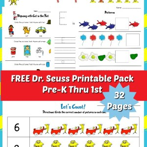 Dr Seuss Printable Pack