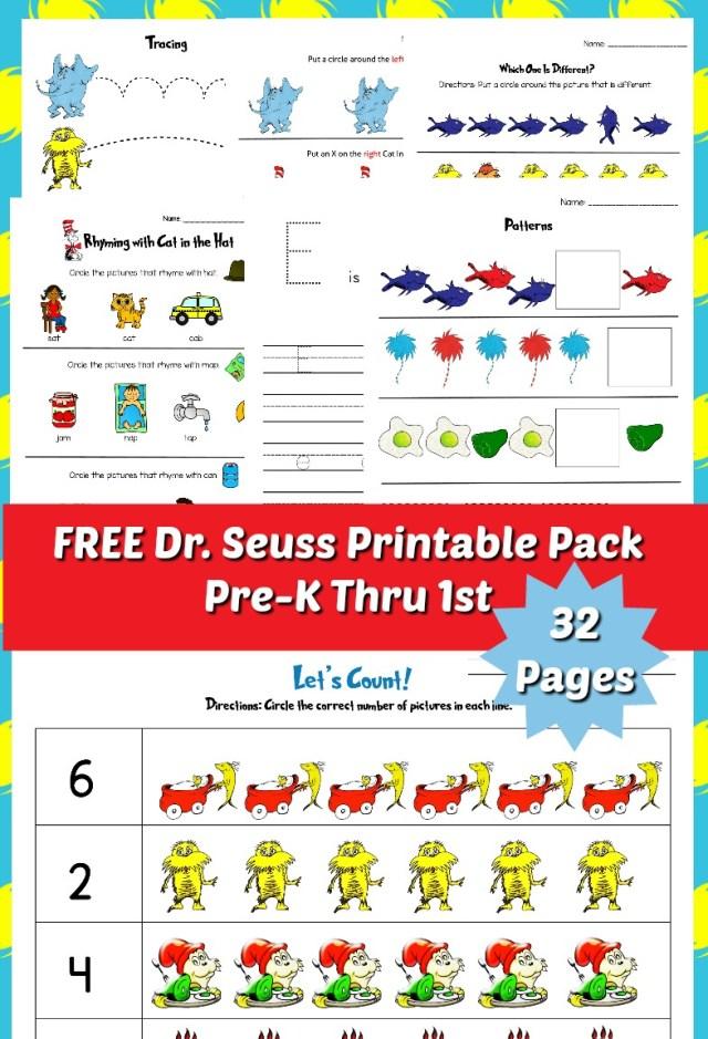 Dr Seuss Printable Pack