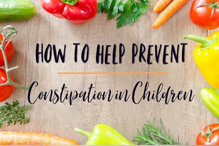 how to help prevent constipation in children