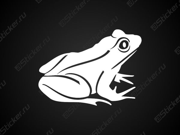 Наклейка на машину - Лягушка, купить анклейку лягушка на ...