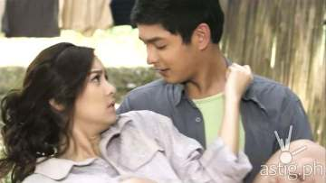 Kim Chiu and Coco Martin doing the 'Poso scene' as Samuel and Isabelle in Ikaw Lamang