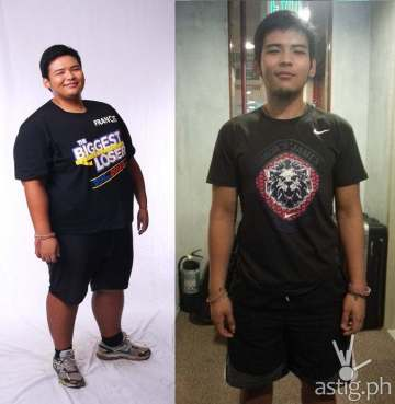 Before and after: Francis of The Biggest Loser Pinoy Edition Doubles