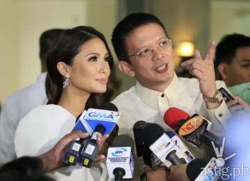 Senator Chiz Escudero and Heart Evangelista
