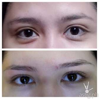 Before and after Browgraphy at Browhaus