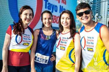 DZMM anchor Cory Quirino, Karylle, DZMM station manager Marah Capuyan, and Matteo Guidicelli