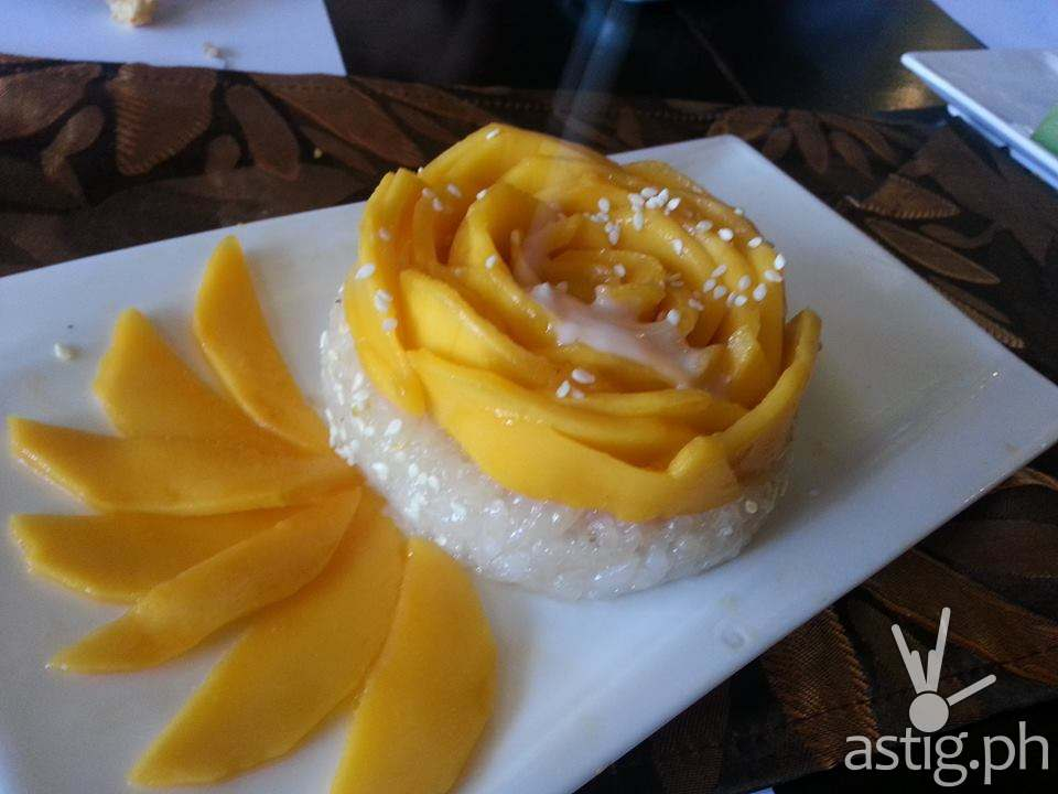 Mango Sticky Rice at Just Thai (PHP 260 per order)