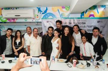Val Iglesias, Joem Bascon, Alexis Navarro, Alvin Anson, Ian Ignacio, Alma Concepcion at the press conference for Ang Bagong Dugo