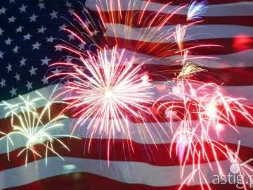 4th of July celebration fireworks