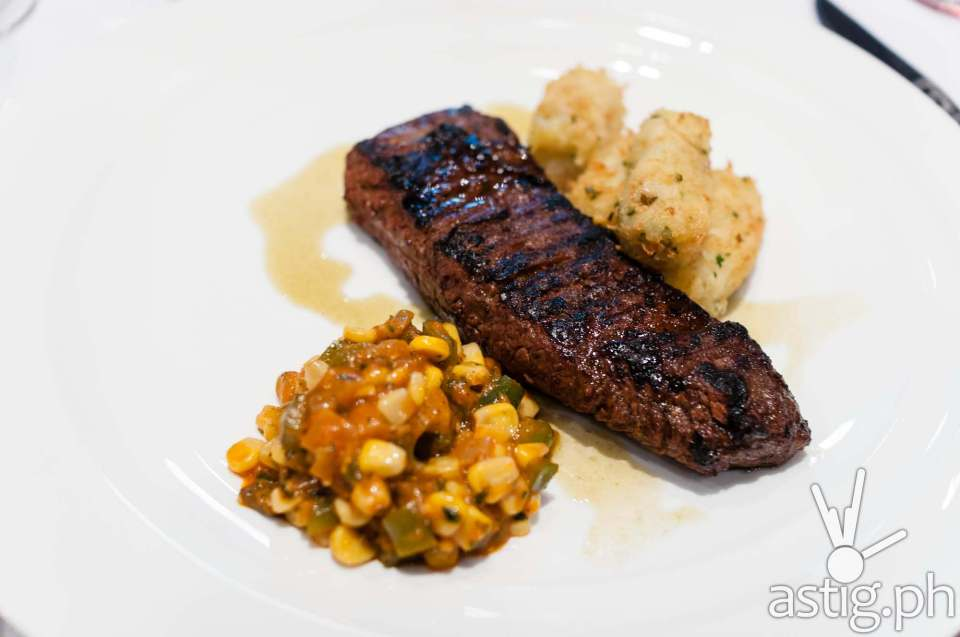 Flank steak with tater tots