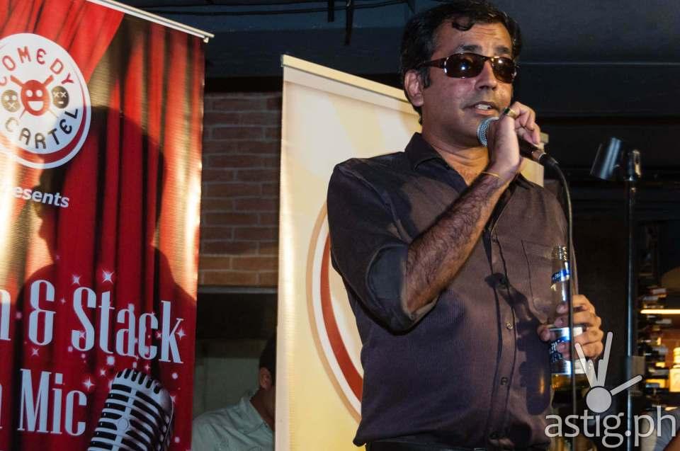Haresh Dashwani doing his skit for Comedy Cartel