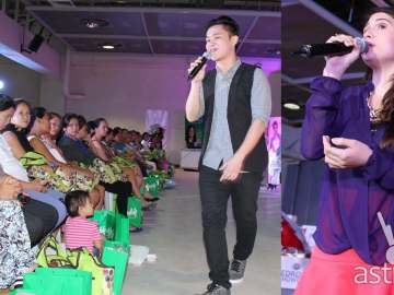Paolo Onesa and Tippy Dos Santos sing for the participants of DZMM Buntis Congress
