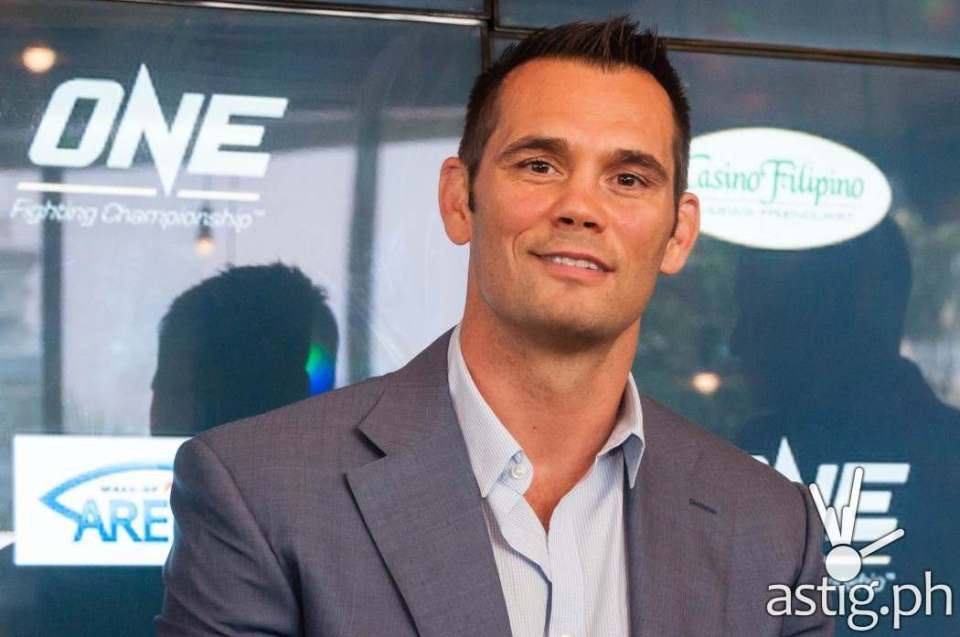 Rich Franklin at ONE FC press conference in Manila, Philippines