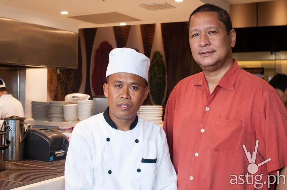 Gerry's Grill founder Gerry Apolinario and Chef Kiat - Sweet Chili Thai restaurant