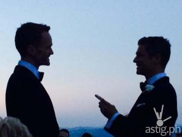 David Burtka and Neil Patrick Harris at their wedding ceremony in Italy