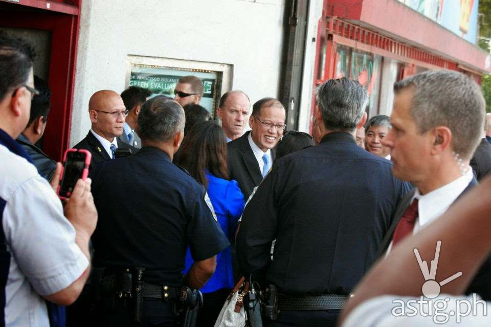 President Benigno Aquino PNoy Noynoy McDonald's Haight San Francisco