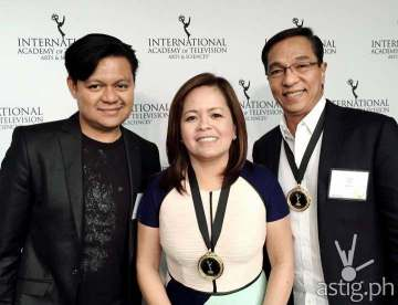 ABS-CBN reporter Don Tagala, Integrated News and Current Affairs head Ging Reyes, and TV Patrol anchor Ted Failon (Photo courtesy of Don Tagala)