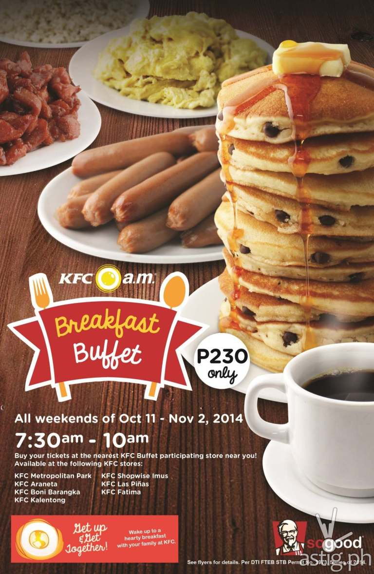 KFC Breakfast Buffet Flyer