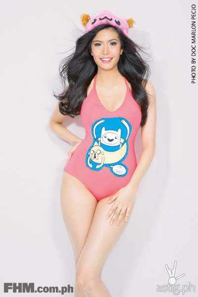 Myrtle Sarrosa wearing a swimsuit for FHM November 2014