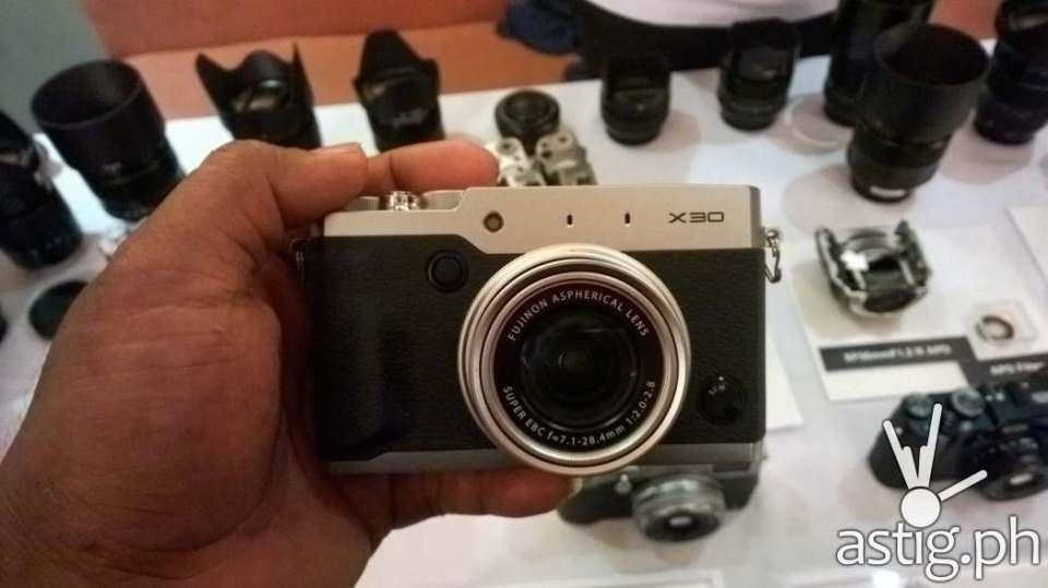 The Fujifilm X30 digital camera