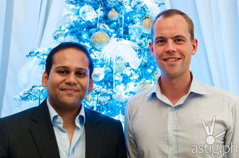 Subir Lohani, Managing Director for Carmudi Philippines (left) Erwin Sikma (Carmudi founder)