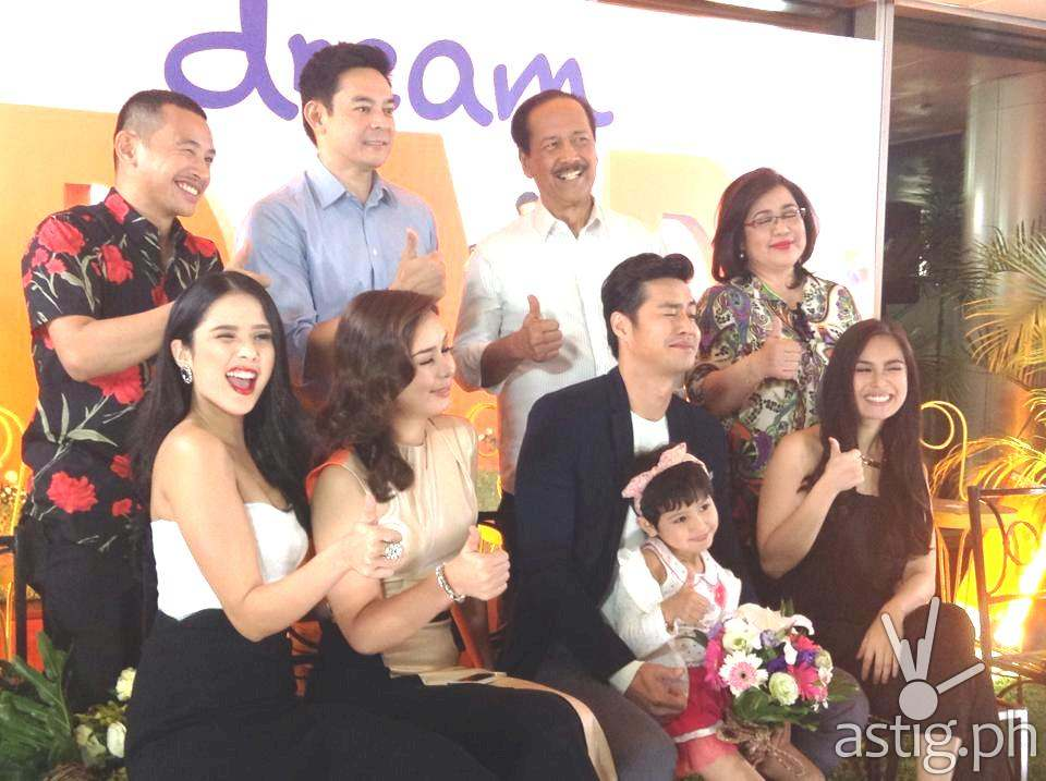Deam Dad cast at the press conference held in Quezon City, Philippines