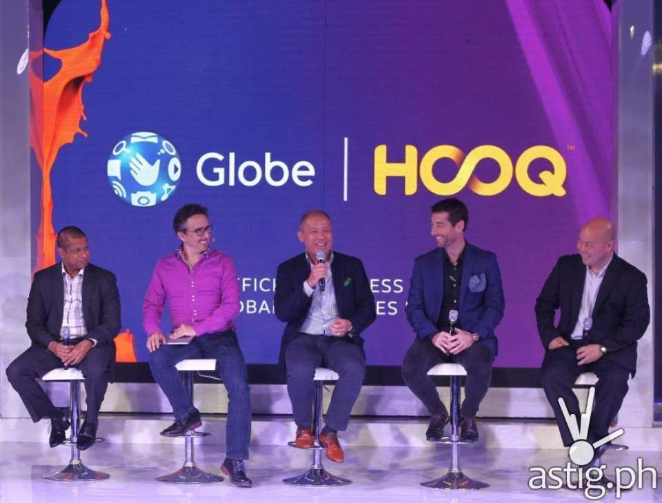Globe executives at the official launching event of HOOQ in the Philippines