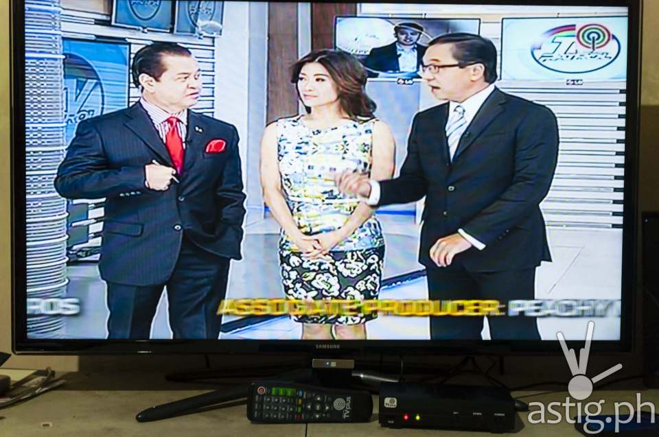 TV Patrol on ABS-CBN TVplus connected to a Samsung HD television