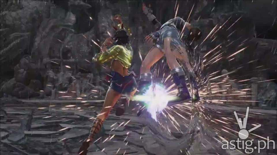 """Josie Rizal sends her opponent flying with an uppercut while shouting """"It's time for you to fly!"""""""
