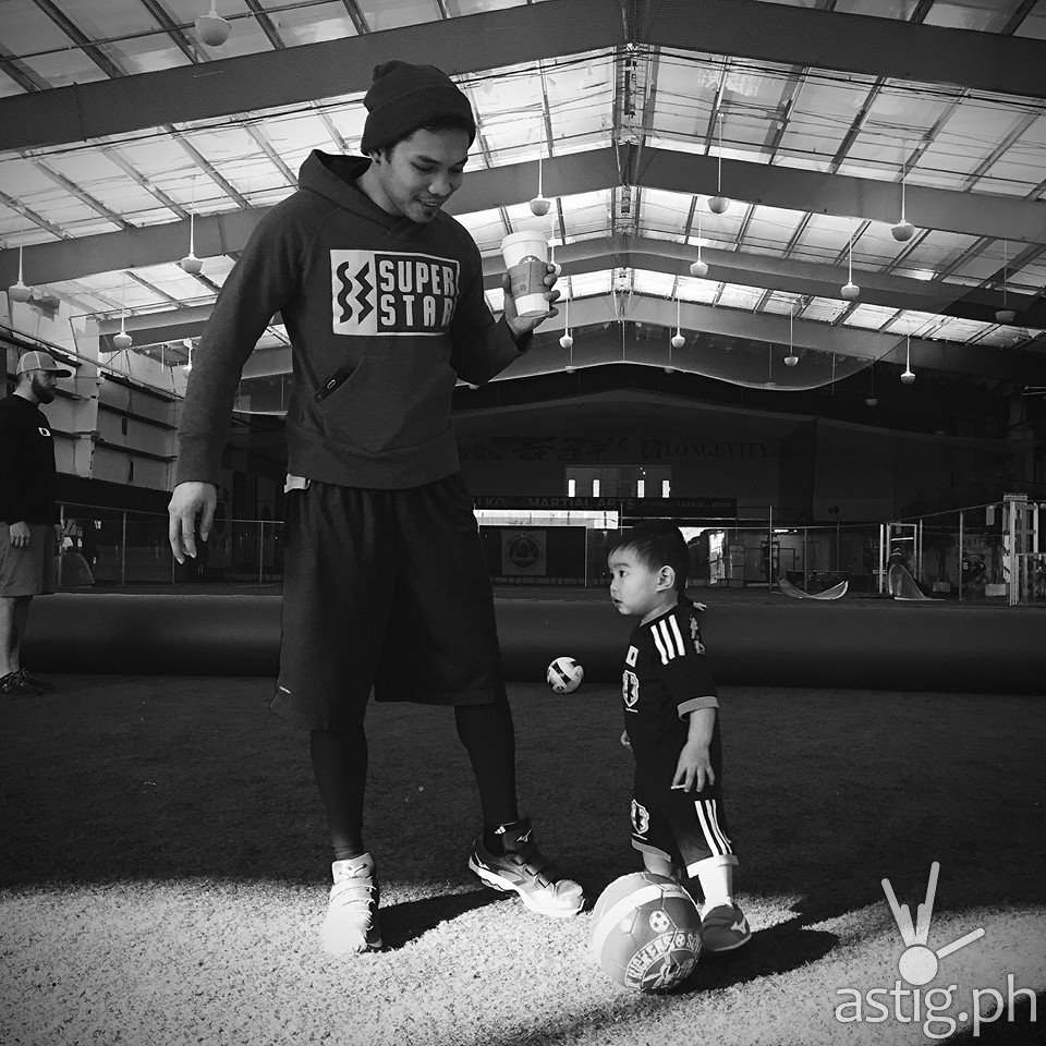 Nonito and Jarel during soccer training in Nonito's FB account