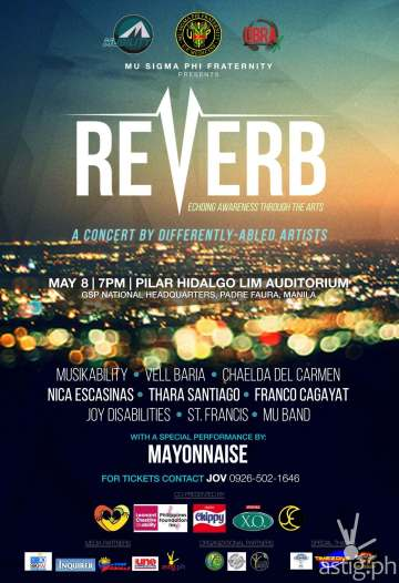 Mu Sigma Phi Fraternity Reverb event poster