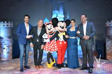 Disney with Globe Telecom execs and Lea Salonga