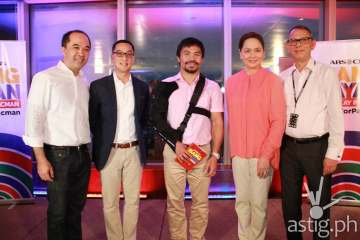 The People's Champ with (from L-R) Dino Laurena, Carlo Katigbak, Charo santos-Concio and March Ventos