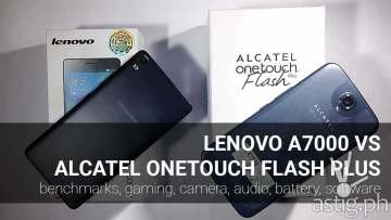 Alcatel ONETOUCH Flash Plus vs Lenovo A7000