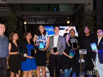 Creative geniuses with Samsung Executives at the Samsung Galaxy Tab A launch at The Nest in BGC