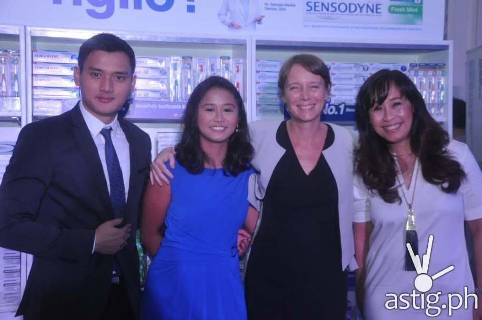 Eduardo Cimafranca, Group Product Manager - Oral Care, Gianina Fortun, Associate Product Manager - Oral Care, Heather Pelier, Incoming General Manager, Gikki Martija, Marketing Director, GSK