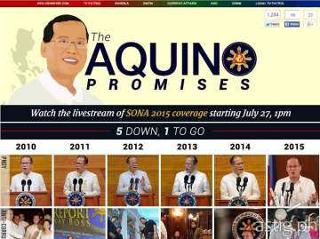 ABS-CBNNews.com's Aquino Promises Tracker