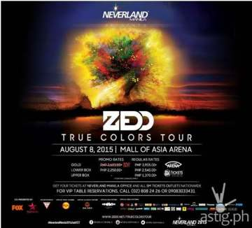 Zedd True Colors Tour Neverland Manila