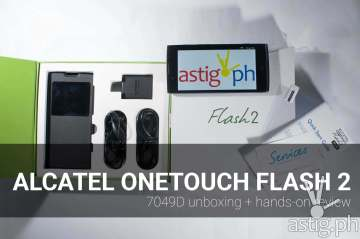 alcatel onetouch flash 2 review unboxing hands on