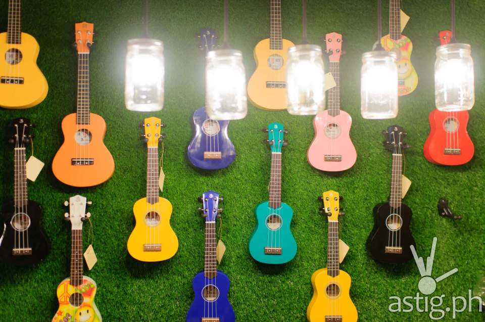 You can learn how to play the ukulele and even buy one at Uke Box Caffe