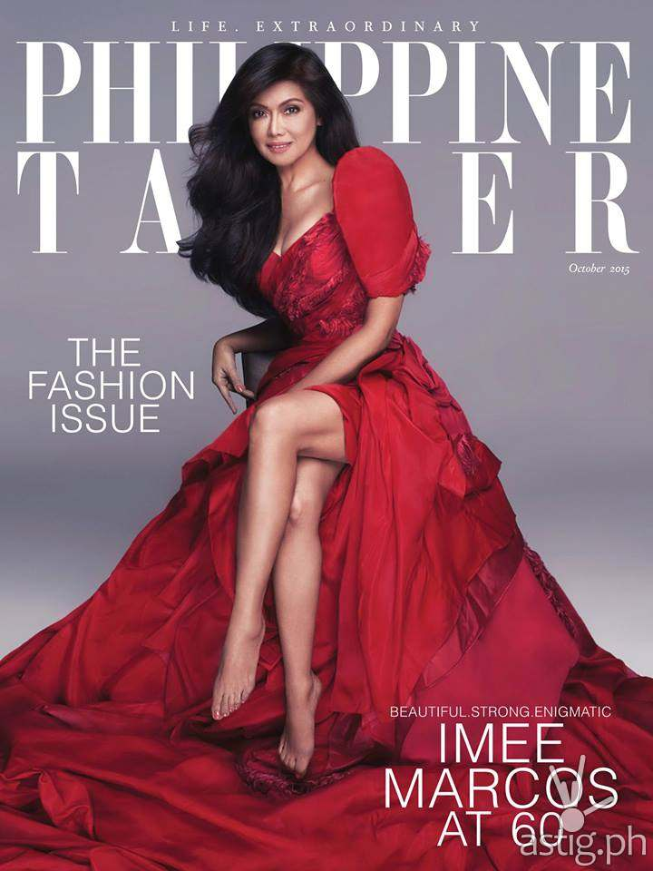 Imee Marcos is the cover of Philippine Tatler October 2015 edition