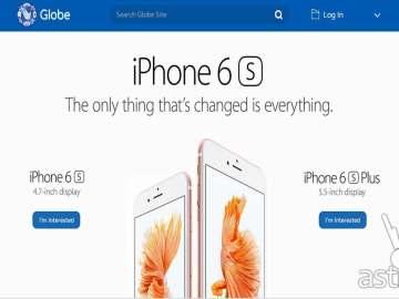 iPhone 6s Pre-order Globe Telecom