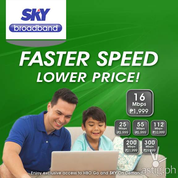 SKY Broadband cable Internet