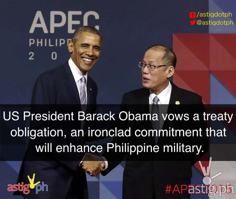 "Committed: US President Barack Obama announced that he intends to transfer two additional ships to the Philippine Navy. A research vessel can be used to map out the Philippines's territorial waters and a US Coast Guard cutter ""to bolster the Navy's ability to conduct long-edurance patrols,"" Obama said. The transfer of ships are part of the US' plan to increase maritime security assistance in the Asia-Pacific region."