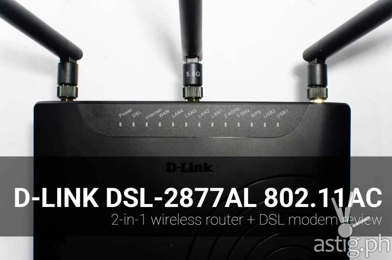 D-Link DSL-2877AL 802.11ac wireless router review