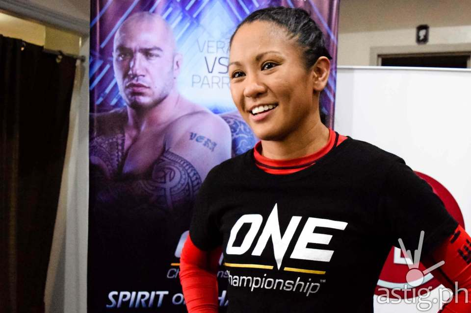 "Ana ""The Hurricane"" Julaton lost to Irina Maezpa from Russia via unanimous decision in ONE 35"