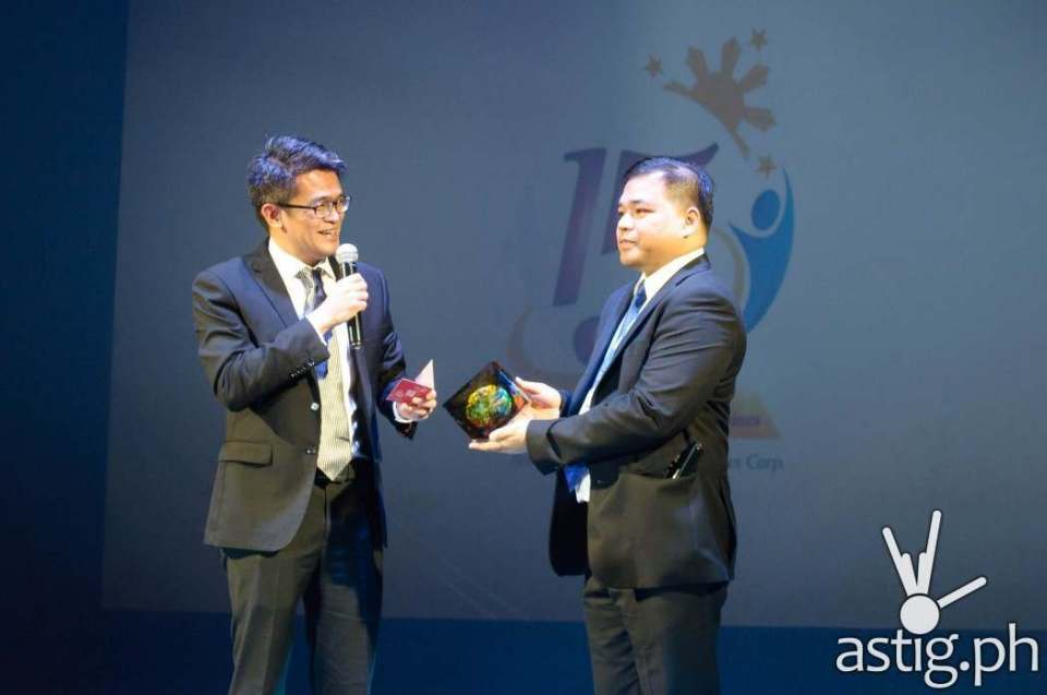 Lim Heng Boon, , Director of Finance and Human Resource from Brother International Singapore, honors Brother Philippines President Glenn Hocson at the 15th anniversary celebration held in Green Sun Hotel, Makati