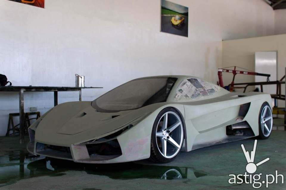 Where it all begins: The body of an Aurelio car is made of fiberglass and manufactured entirely by hand