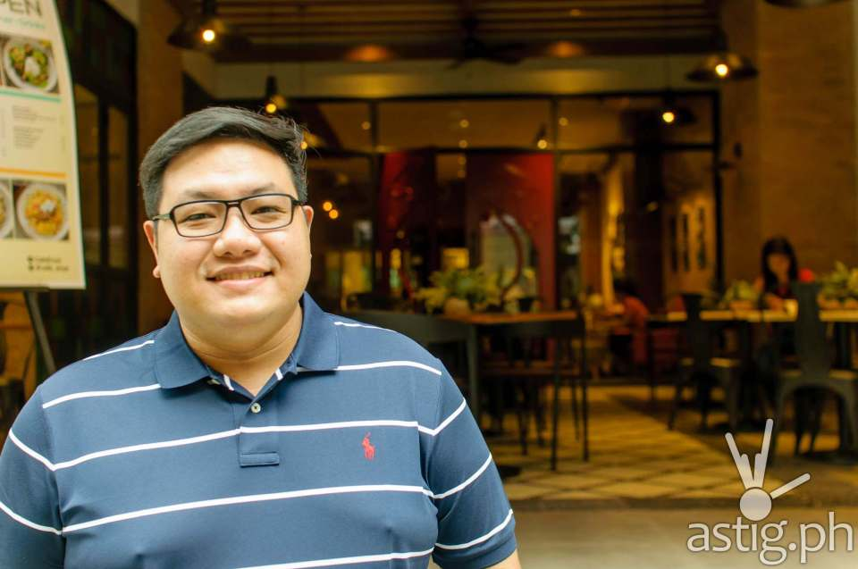 Chef RJ Ungco of Café Enye Eastwood Libis Quezon City