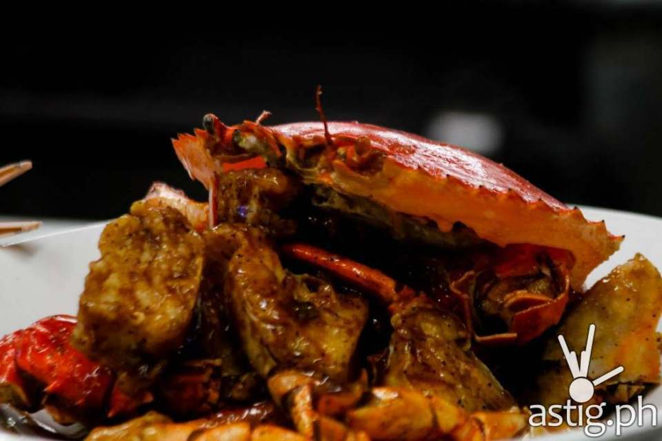 Crabs with Black Pepper Sauce Singaporean Style at Seafood Market and Restaurant